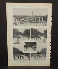 Harper's Weekly Single Page The Big Bicycle Parade c1890s A6#67