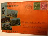 1953 Postmarked Souvenir Folder Foldout Postcard Sights In Birmingham Alabama AL