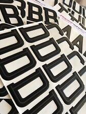 Hi Line Font 3d Gel Domed Resin Number Plates Letters Set Kit x700