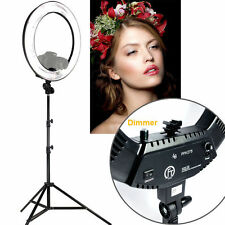 "18"" LED Dimmable Photo Video Continuous Diva Ring Light Kit Stand Carry Bag"