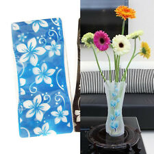 Color Random 2X Foldable Plastic Unbreakable Reusable Flower Home Decor Vase、3Cw