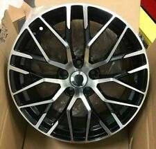"""18""""r8 spider black pol alloy wheels audi/passat/skoda/seat/a4/a6/a5 with tyres"""