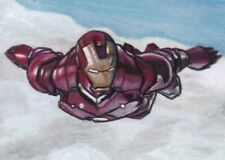 IRON MAN Tony Stark MARVEL AVENGERS  Sketch Card PRINT 1 of 15 ART