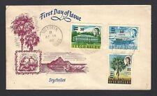 Seychelles 1968 provisionals 3v on FDC