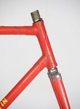 MYSTERY ITALIAN STEEL FRAME SET FRAMESET COLUMBUS VINTAGE LUGGED ROAD EROICA OLD