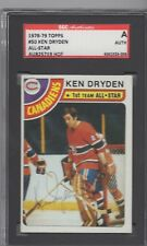 KEN DRYDEN 1978-79 SIGNED TOPPS CARD MONTREAL CANADIENS SGC SLAB ENCAPSULATED