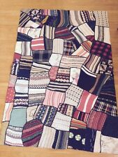 Modern Patchwork Rug DANIA Collection, Mixed Sweater Fabrics, Brand New Ret $240