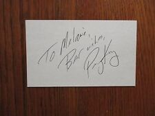 """PERRY   KING  (""""Riptide""""/""""Melrose  Place"""")  Signed  3"""" x 5"""" Index   Card"""