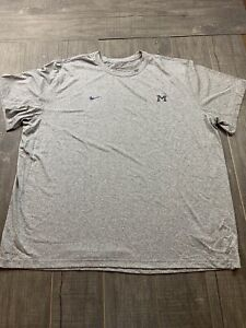 🆕 Mens Nike Michigan Wolverines Team Issued Basketball T Shirt Size 4XL RARE