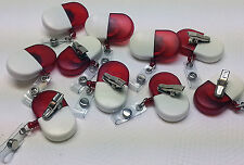 10 Rojo Blanco Retráctil Placa identificativa Carrete NOMBRE ENFERMERA Insignia