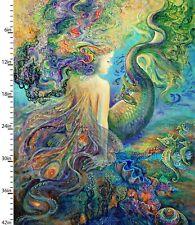 New listing Call of the Sea Merfairy Panel Digital Print Cotton Mermaid Fabric 17994-Mlt