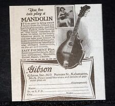 1928 OLD MAGAZINE PRINT AD, GIBSON, YOU TOO CAY PLAY A MANDOLIN, IT'S EASY, 903!