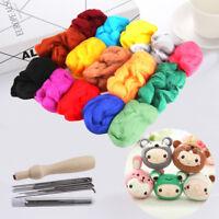16 Colour Wool Felt Needles Tool Set + Needle Felting Mat Starter DIY Kit New