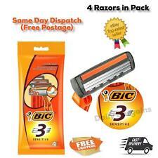 4 Bic 3 Sensitive Triple Blade Extra Glide Mens Disposable Shaving Razor Blade