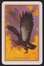 1 Single VINTAGE Swap/Playing Card EN BIRD 'GOLDEN EAGLE GO-3-1-A' Art ROWNTREE