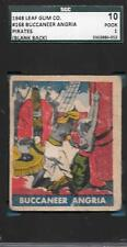 BLANK BACK! 1948 LEAF PIRATES 168 BUCCANEER ANGRIA *SGC AUTHENTIC GUM CARD PROOF