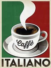 Coffee, Retro metal Aluminium Vintage Sign, Bar, Pub, Cafe, Kitchen