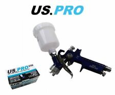 US PRO Mini HVLP Gravity Feed Spray Gun 115ML PP Cup 0.8MM Nozzle 8768