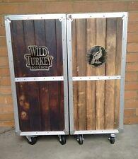 Genuine Wild Turkey Bourbon Portable Bar Very Rare Great Condition metal logos
