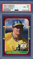 1987 Donruss Opening Day #24 - JOSE CANSECO - 462 HRs - Oakland A's - PSA 8 NMMT