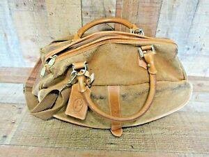 Vintage Protocol Dura Suede Leather medium Duffel Bag Weekender Luggage
