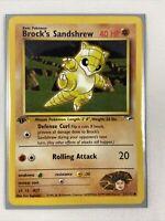 Brock's Sandshrew 71/132 1st Ed. Gym Heroes Common Pokemon Card NM