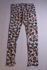 LuLaRoe Women's Paisley Print Full Length Leggings SV3 White SIze Tall & Curvy
