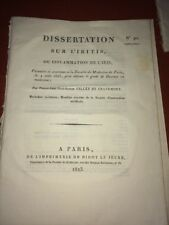 ESSAI SUR L'INFLAMMATION DE L'IRIS 1823 - MÉDECINE