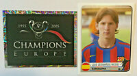 Rookie Lionel Messi Sticker Champions of Europe 2005 CL 2005/06 Rare Panini Mint