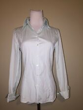EXPRESS DESIGN STUDIO Light Blue Dress Shirt Work Button Up 6 SMALL ethankeith1