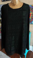 NWT Company Ellen Tracey Plus size XXL black tunic with a lace front overlay