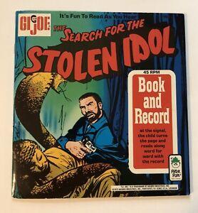 GI Joe Search for the Stolen Idol (1973) Book & Record High Grade