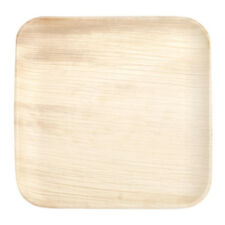 "ECO FRIENDLY 6"" square palm leaf plates (4 PACKS of 25) 100 CT"
