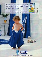 Publicité 1996  NESTLE lait de croissance junior