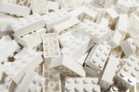 LEGO BRICKS 100 x  WHITE 2x4 Pin - From Brand New Sets Sent in a Clear Sealed Ba