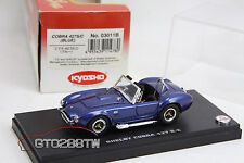 Kyosho 1:43 scale Shelby Cobra 427 S/C (Mid Blue Metallic) *TOP RARE, Retired*