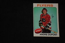 ANDRE DUPONT 1975-76 TOPPS SIGNED AUTOGRAPHED CARD #56 FLYERS