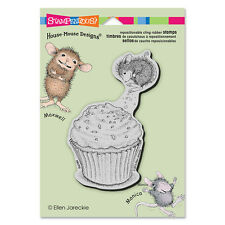 HOUSE MOUSE RUBBER STAMPS CLING CUPCAKE JUMP STAMP
