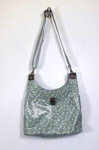 FAT FACE aqua green & cream floral oilcloth lined retro crossbody shoulder bag