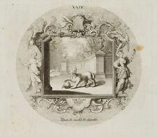 PROBST(*1721), Emblem, Sphinx mit Reichsapfel, Hochmut, Ovid, um 1750, KSt