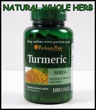 Puritans Pride TURMERIC 800mg ~ 100 Capsules ~ Antioxidant Curcuma Longa Tumeric