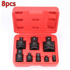 "Tools Socket Impact Adaptor Converter Set From To 1/4"" 3/8"" 1/2"" 3/4"" 1"" 8pcs"