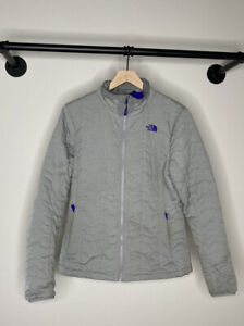 The North Face Womens Size Large Full Zip Jacket Gray Quilted outdoor light