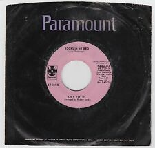 LILY FIELDS 45rpm Paramount PAA-0203 Rocks In My Bed Stereo/Mono Soul R&B