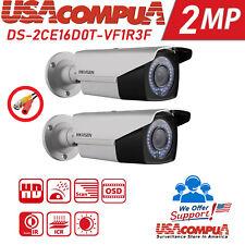 Hikvision 2Mp Bullet Varifocal 2-Pack Ds-2Ce16Dot-Vfir3F Hd 1080P Vf 2.8/12 mm