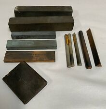 Lot Of Vintage Knife Chisel Tool Blade Honing Sharpening Stone (A7)