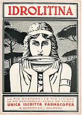 J0857 IDROLITINA - Illustrazione - Pubblicità grande formato - 1924 Old advert