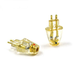 Gold Plated Headphone Plug for FOSTEX TH900 MKII MK2 Male to MMCX Female Adapter