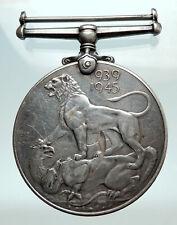 1945 UK United Kingdom KING GEORGE VI Genuine World War II Victory Medal i80281