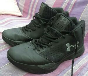 Under Armour Black Hi-Top Trainers Size UK 9.5